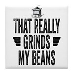 Grinding Coffee Beans Tile Coaster