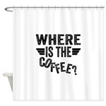 Where Is The Coffee Shower Curtain