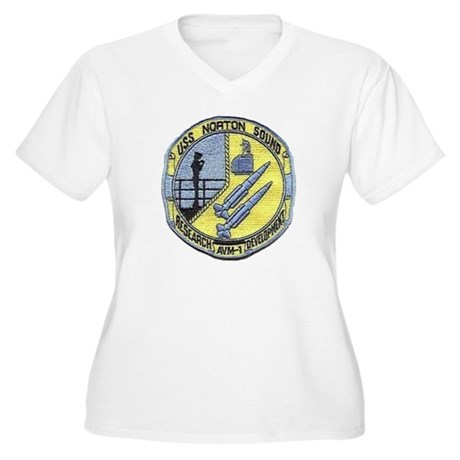 USS NORTON SOUND Women's Plus Size V-Neck T-Shirt
