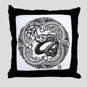 Chinese Zodiac – Snake Throw Pillow