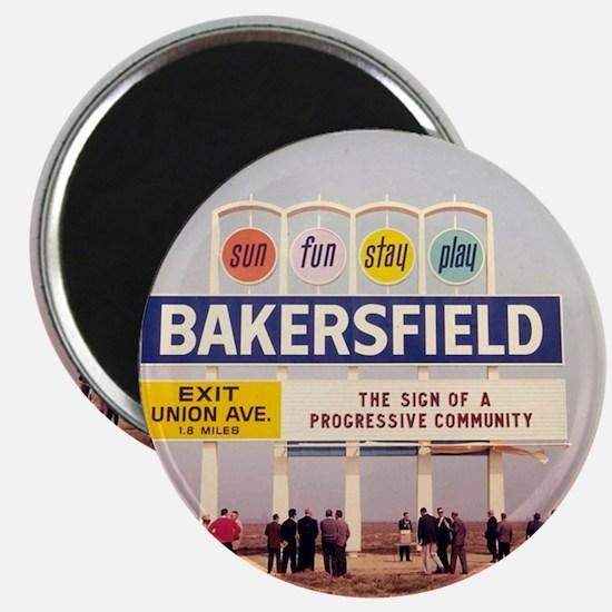 Bakersfield Sun Fun Stay Play Magnet