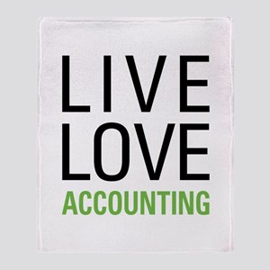 Live Love Accounting Throw Blanket