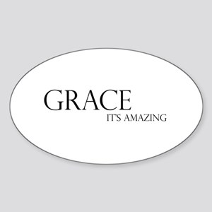Black Grace It's Amazing Oval Sticker