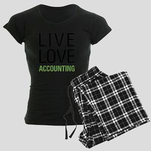 Live Love Accounting Women's Dark Pajamas