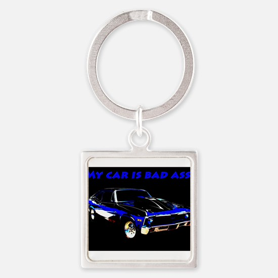 My Car Is Bad Ass Keychains
