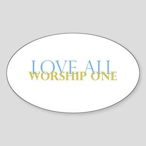 Love All Oval Sticker