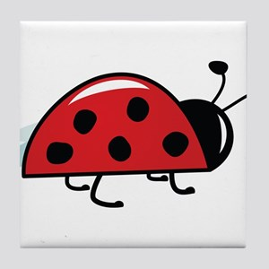 Side View Ladybug Tile Coaster