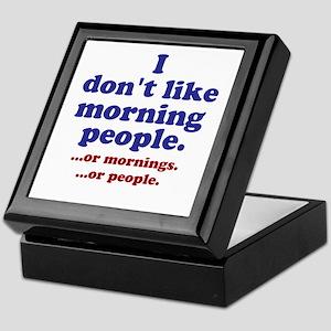 Morning People Keepsake Box