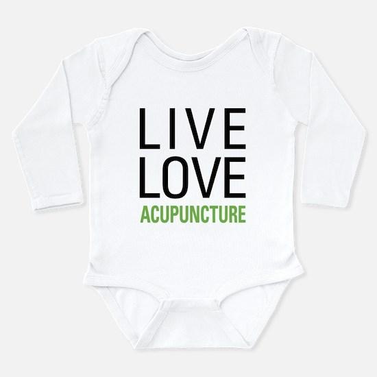 Live Love Acupuncture Long Sleeve Infant Bodysuit