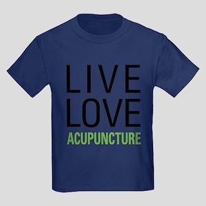 Live Love Acupuncture Kids Dark T-Shirt