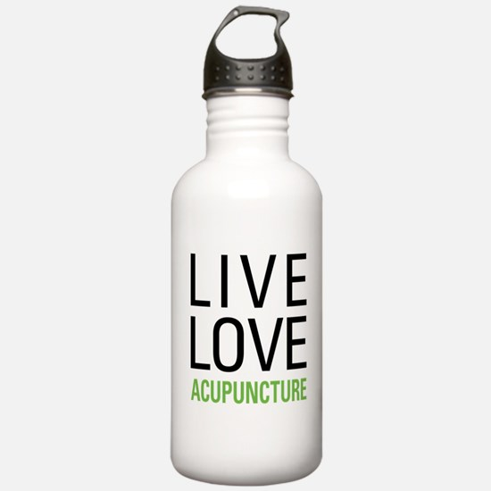 Live Love Acupuncture Sports Water Bottle