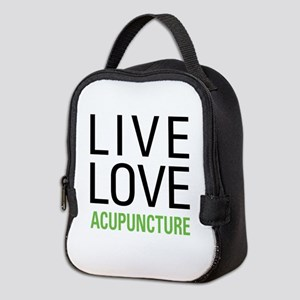 Live Love Acupuncture Neoprene Lunch Bag