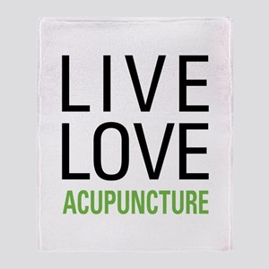 Live Love Acupuncture Throw Blanket