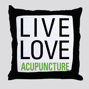 Live Love Acupuncture Throw Pillow