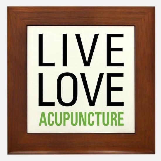 Live Love Acupuncture Framed Tile