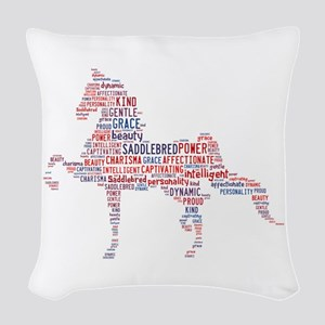 American Saddlebred Woven Throw Pillow