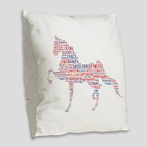 American Saddlebred Burlap Throw Pillow