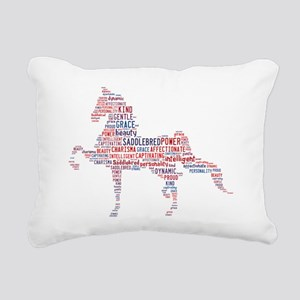 American Saddlebred Rectangular Canvas Pillow