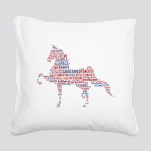 American Saddlebred Square Canvas Pillow