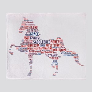 American Saddlebred Throw Blanket