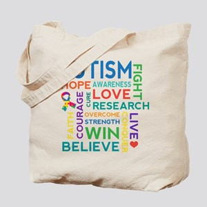 Autism Word Cloud Tote Bag