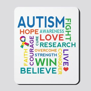 Autism Word Cloud Mousepad