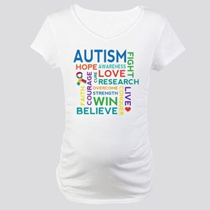 Autism Word Cloud Maternity T-Shirt