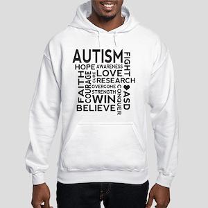Autism Word Cloud Hooded Sweatshirt