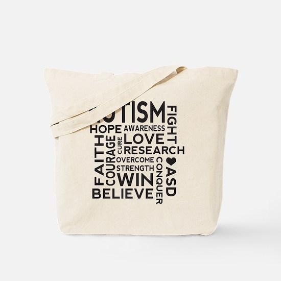 Autism Word Cloud Tote Bag