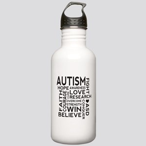 Autism Word Cloud Stainless Water Bottle 1.0L