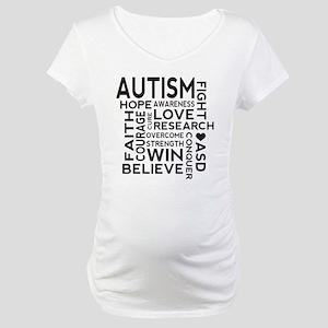 Autism Word Cloud Maternity T-Shirt