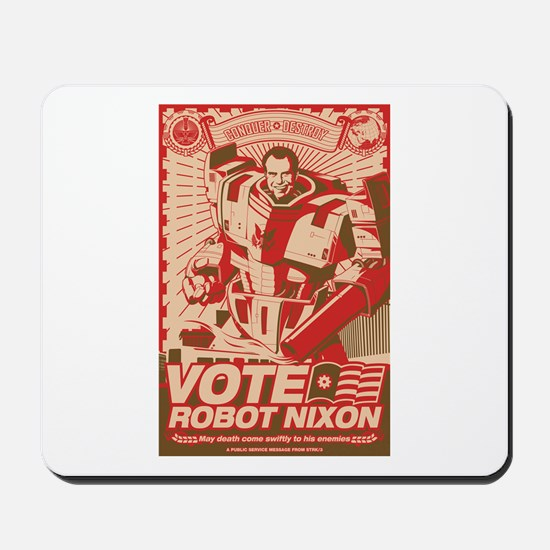 all hail robot nixon Mousepad