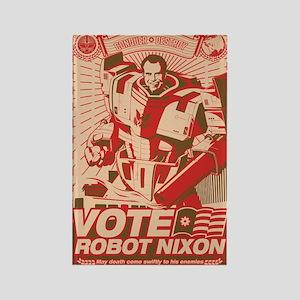 all hail robot nixon Rectangle Magnet