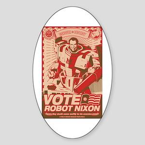 all hail robot nixon Oval Sticker