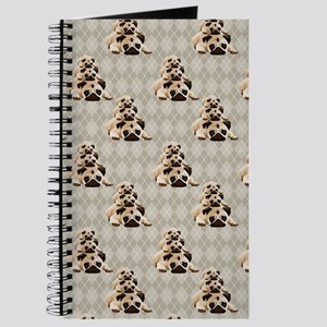 Pugs on Tan Argyle Journal