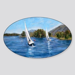 Smith Mountain Lake Fall Regatta Sticker (Oval)