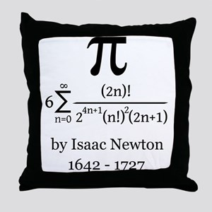 Pi by Sir Isaac Newton Throw Pillow