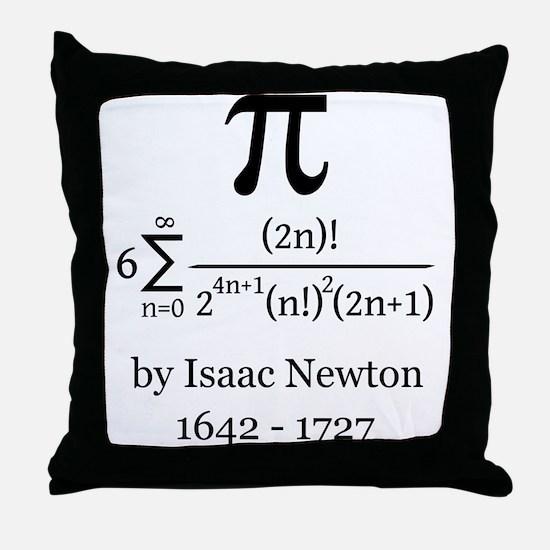 Pi by Sir Isaac Newton Throw Pillow