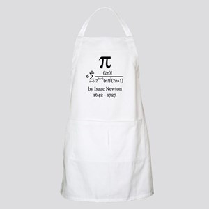 Pi by Sir Isaac Newton Apron