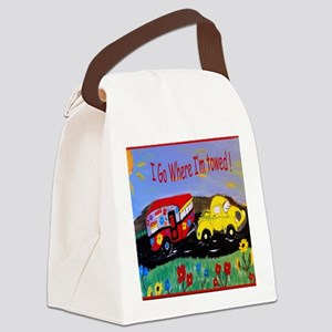 Camper Trailer  Canvas Lunch Bag