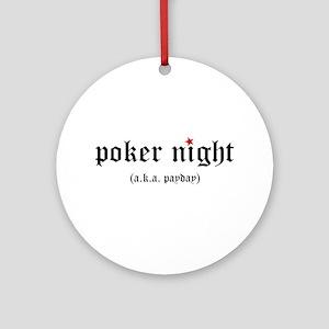Poker Night Ornament (Round)
