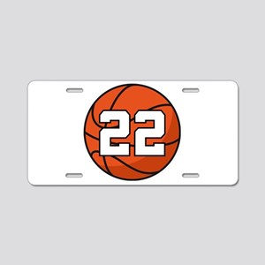 Basketball Player Number 22 Aluminum License Plate