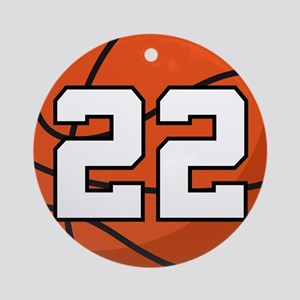 Basketball Player Number 22 Ornament (Round)