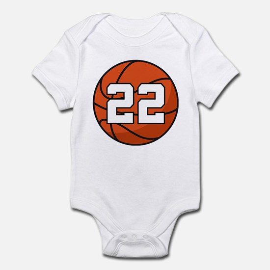Basketball Player Number 22 Infant Bodysuit