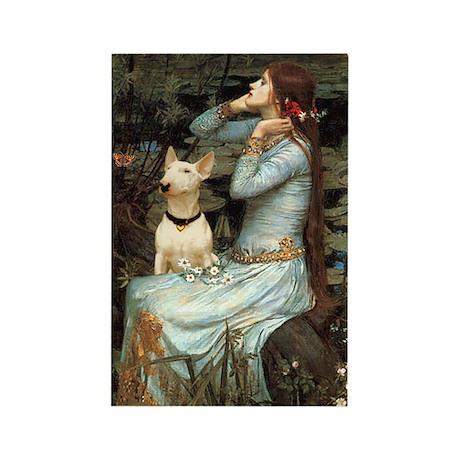 Ophelia & Bull Terrier Rectangle Magnet