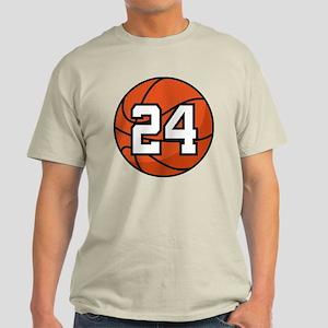 Basketball Player Number 24 Light T-Shirt