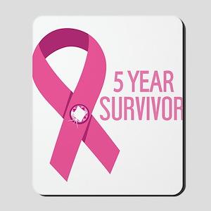 Breast Cancer 5 Year Survivor Mousepad