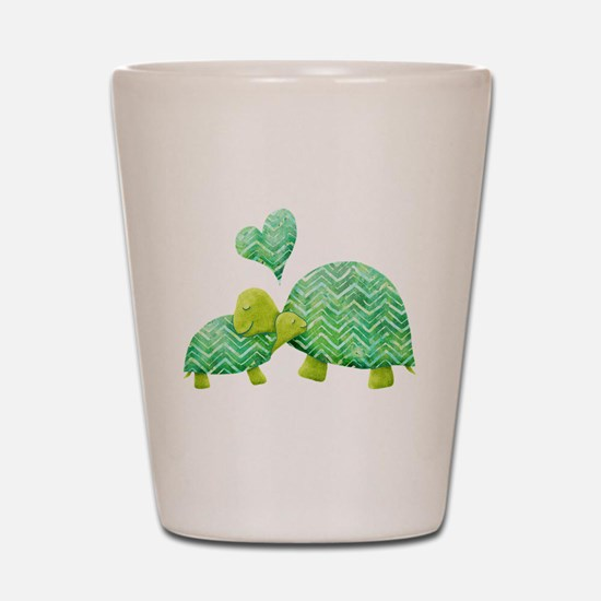Turtle Hugs Shot Glass