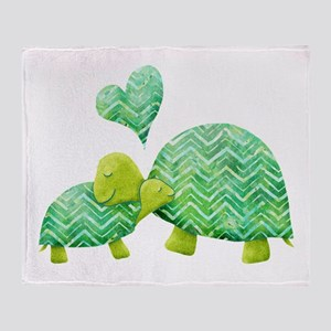 Turtle Hugs Throw Blanket