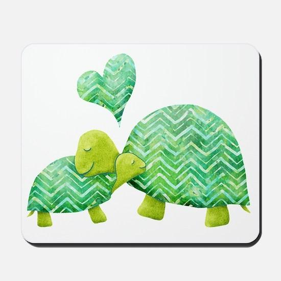 Turtle Hugs Mousepad